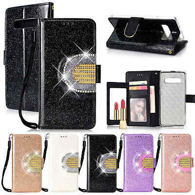 For Samsung Galaxy S10 Plus S8 Note 9 S9 Case Magnetic Wallet Leather Flip Cover