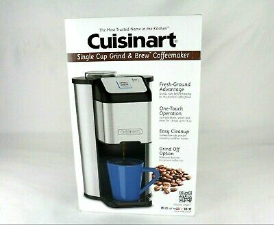 Cuisinart DGB-1 Single Cup Grind & Brew Coffee Maker Stainless Steel