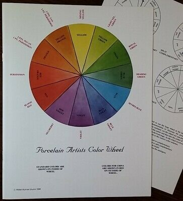 Color Wheel for the Porcelain Artist by Helen Humes