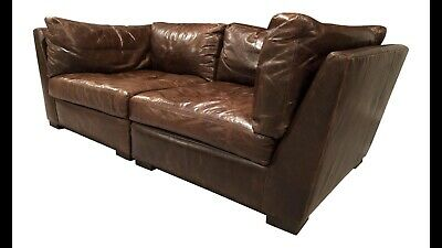 Restoration Hardware Maxwell Leather Sofa Local Pickup Only