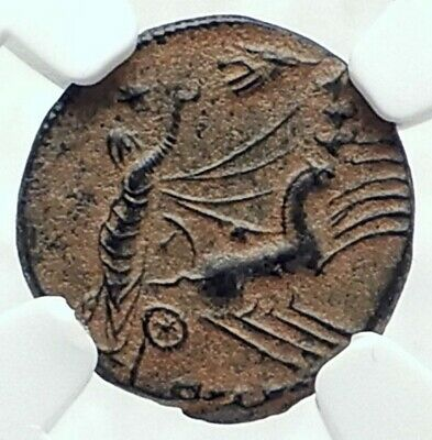 CONSTANTINE I the Great CHARIOT to GOD HAND HEAVEN Ancient Roman Coin NGC i78724