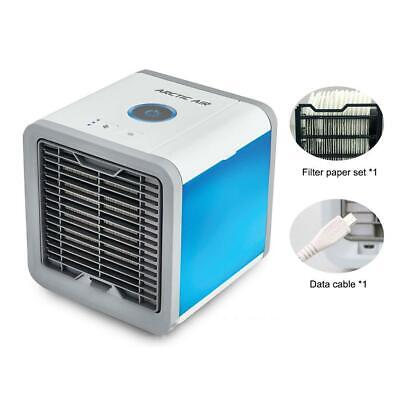 Portable Mini Air Cooler Air Cooling Conditioner Water Tank Fan Humidifier USB