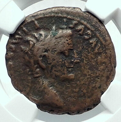 TIBERIUS CAESAR under AUGUSTUS 8AD ALTAR Authentic Ancient Roman Coin NGC i79181