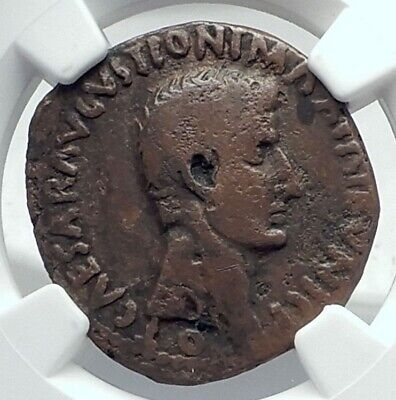 AUGUSTUS Authentic Ancient 6BC Rome Genuine Original Roman Coin NGC i79183
