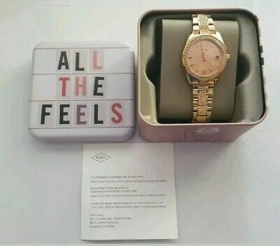 9c6418f30 Fossil Womens Watch Scarlette Mini Rose Gold Tone ES4509 MSRP $145 NWT New
