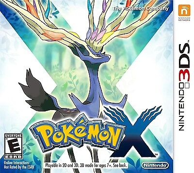 Brand New Pokemon X (Nintendo 3DS, 2013)