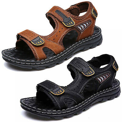 Mens Outdoor Hiking Trekking Open Toe Sandals Casual Adjustable Strap Shoes Size