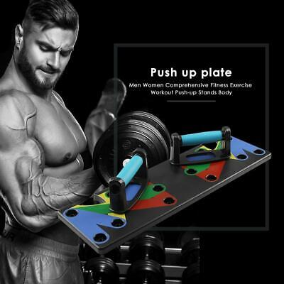 9 in 1 Push Up Rack Board System Fitness Workout Train Gym Exercise Stands D1B