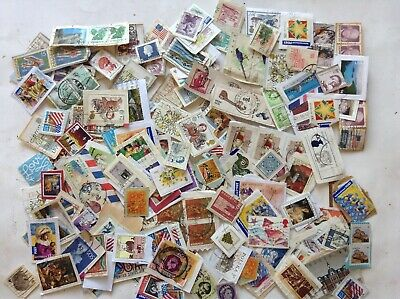 WW KILOWARE USED STAMPS 200 GRAMS ON PAPER about 1000 stamps