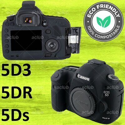 Canon EOS 5D Mark III 5D3 5Ds 5DsR Silicone Protective Case Cover - Black
