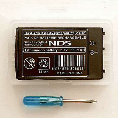 New Rechargable Battery Pack for Nintendo Original DS (Phat) NDS + Screwdriver