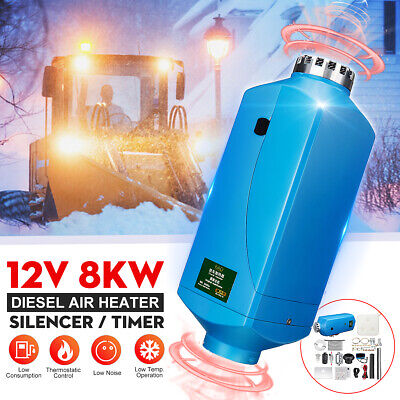 8KW 12V Diesel Air Heater Metal Shell Upgrade LCD Metal Shell For Boat Motorhome