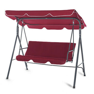 Garden Hammock Swing Chair Canopy Patio Cushion Outdoor 3 Seater Bench Strattore