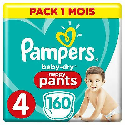 Pampers - Baby Dry Pants - Couches-culottes Taille 4 -  Pack 1 mois (x160)