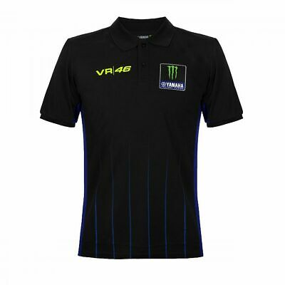 Valentino Rossi VR46 Moto GP M1 Black Line Yamaha Polo Shirt Official 2019