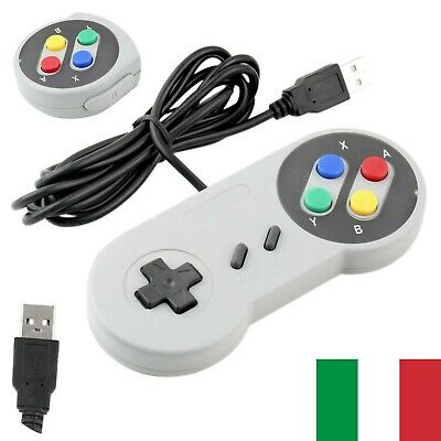 Controller USB Classic Retro SNES Jopypads Gamepad Joystick Per Windows PC MAC
