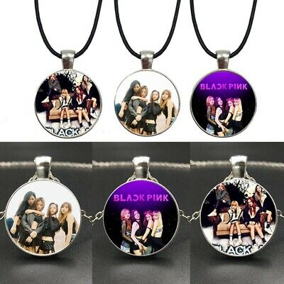 Kpop BLACKPINK Punk Necklace Members Photo Pendant Fashion Jewelry Accessories