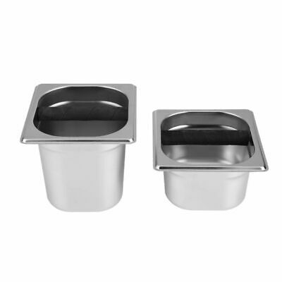 Espresso Knock Box Coffee Knock Box Container With Rubber Bar Stainless Steel