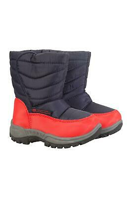 Mountain Warehouse Boys Snow Boots with Snowproof Upper & Sherpa Fleece Lining