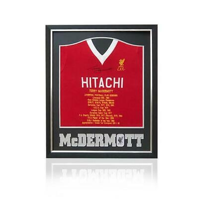 Terry McDermott Hand Signed HITACHI Honours Shirt in Deluxe Classic