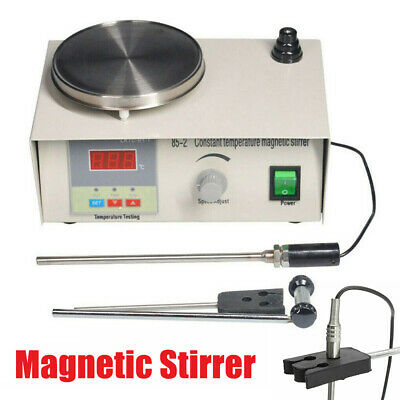 New Laboratory Magnetic Stirrer with Heating Plate 220V Hotplate Mixer 85-2