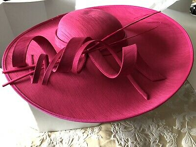 536e88a8d966 Stunning John Lewis Large Fuschia Pink Round Hat Band Wedding Races Cost  £110