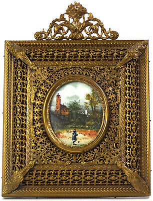 Miniature / Painting Framed, Louis Xvi Style, Early 20Th - French Antique