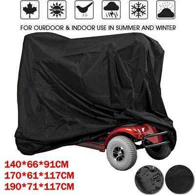 WATERPROOF MOBILITY SCOOTER Poncho Rain Cover With Hood For