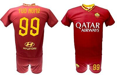 Shirt Personalized Roma 2020+ Shorts Official Set Split 2019 As