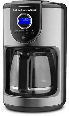 KitchenAid KCM111OB Onyx Black 12-Cup Programmable Coffee Maker With Glass