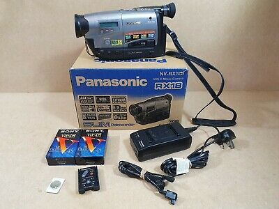Vintage Panasonic NV-RX18B Camcorder Camera With Two Sealed Tapes Boxed