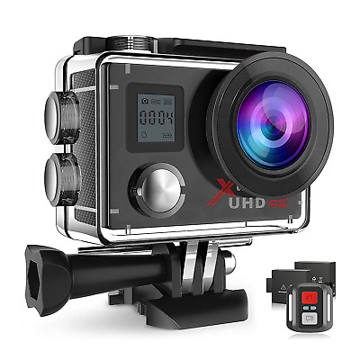 Campark Action Camera 4K Wifi 16MP Underwater Waterproof Cam 170° Wide-Angle 2