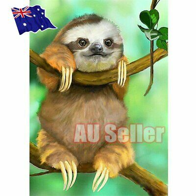 5D DIY Full Drill Diamond Painting Cute Sloth Cross Stitch Embroidery craft EA