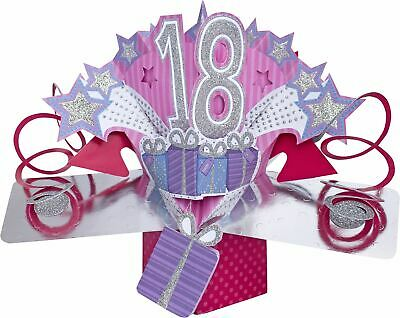 Suki Gifts International Carte d'anniversaire Pop-Up 18 Ans, Multicolore