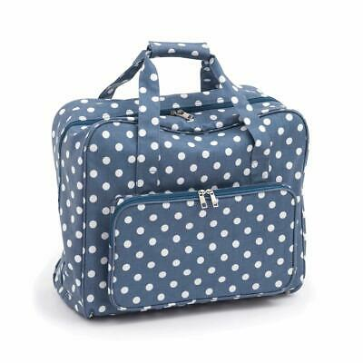 HobbyGift Sewing Machine Bag -Denim Style Spot Polka Dot Matt PVC Storage Crafts