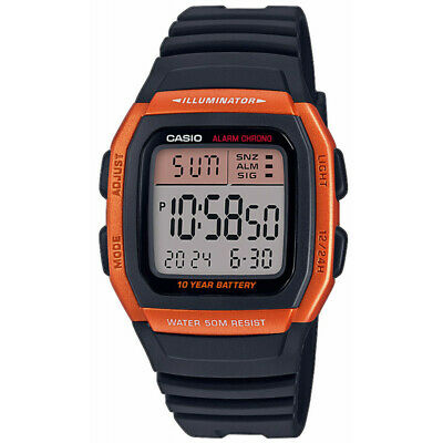 Casio Collection uomo donna crono allarme digitale led cassa resina fuso orario