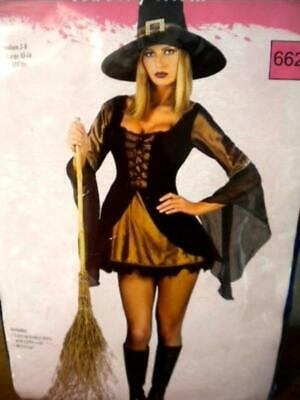 Sexy Witch Halloween Costume - Fantasy Outfit - Size: S/M - 2-8
