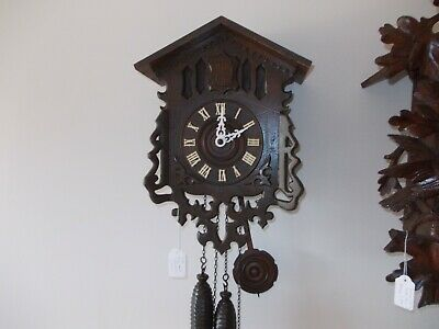 Antique Brass Lyre Plated Cuckoo Clock (c1920)... with flapping wings