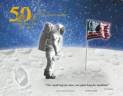 2019 Apollo 11 50th Anniversary Engraved Print: Giant Leap SOLD OUT!