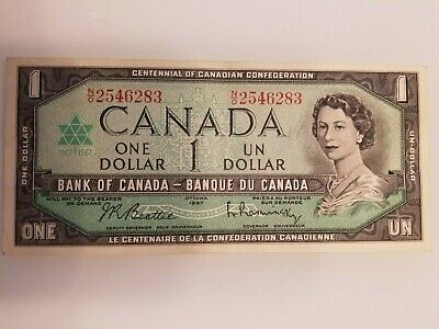 1867 1967 $1 Dollar Beattie Rasminsky - Bank of Canada
