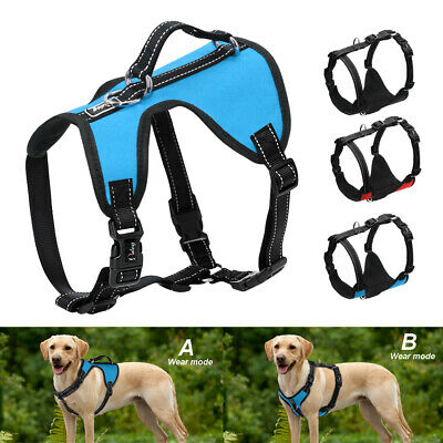 Reflective No Pull Dog Harness Front Leading Pet Nylon Walking Vest with Handle