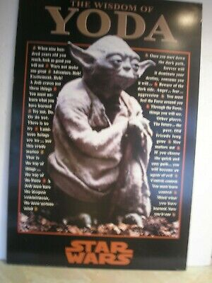 "Star Wars - The Wisdom of Yoda Poster - 24"" x 36"" RARE* - 1997 VINTAGE YODA"