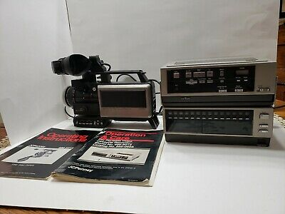 Vintage Jc penny Color Video Camera And  Portable  Cassette Recorder