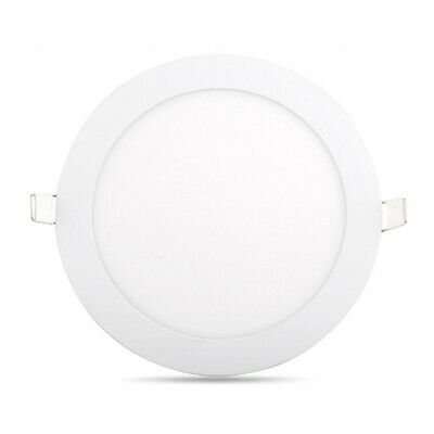 2X(LED Panel Light Ultra Thin Ceiling Recessed Grid Downlight Lamp Round Pane pc