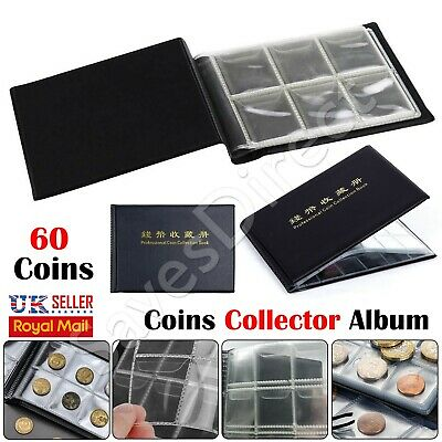 Collectors Coin Album for 60 Coins 50p Olympic Beatrix old 50p £2 £1 Folder Book