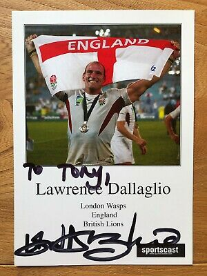 Lawrence Dallaglio rugby player 8x6 colour signed autographed photograph