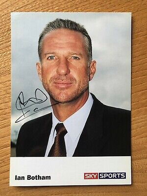Ian Botham former cricketer 6x4 colour signed autographed photo