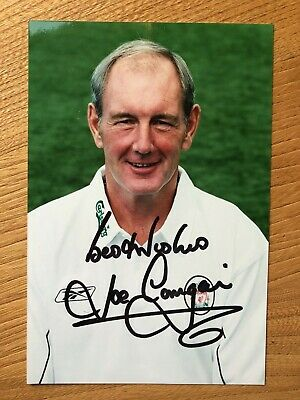Joe Corrigan former footballer 6x4 colour signed autographed photograph