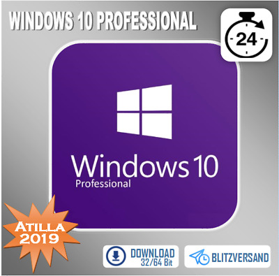 Windows 7/8.1/10 Home Prem./Professional [WIN PRO] - 32&64 Bit - OEM - per email