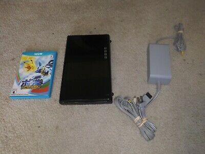 Nintendo Wii U Black 32gb Console System ONLY Model WUP-101(02) W/Charger + AV